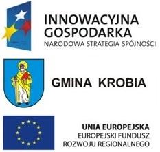 Gmina Krobia realizuje inwestycję pn. Budowa gminnej infrastruktury dostępu do internetu dla osób zagrożonych wykluczeniem cyfrowym w gminie Krobia. Jest to projekt dofinansowany ze środków Unii Europejskiej w ramach Programu Operacyjnego Innowacyjna Gospodarka Oś Priorytetowa 8. Społeczeństwo informacyjne – zwiększanie innowacyjności gospodarki Działanie 8.3 Przeciwdziałanie wykluczeniu cyfrowemu - eInclusion.